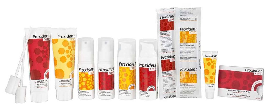 Proxident's product range for dry mouth
